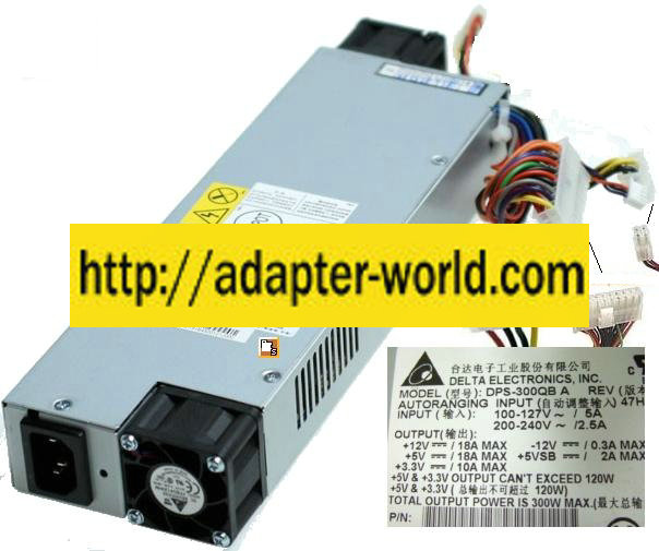 Delta DPS-300QB A 300W ATX Power Supply Server PSU Desktop